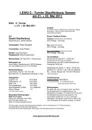1.EWU C - Turnier Stauffenburg/ Seesen am 21. + 22. Mai 2011