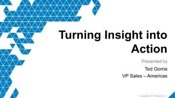 Turning Insight into Action - OSIsoft