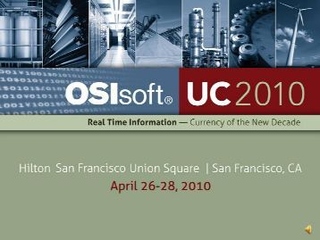 Integrating Building Automation - OSIsoft
