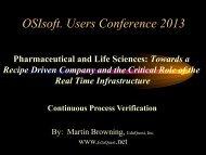 Process Validation - OSIsoft