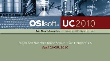 Plantwide Information Management System - OSIsoft