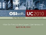 Infrastructure - OSIsoft