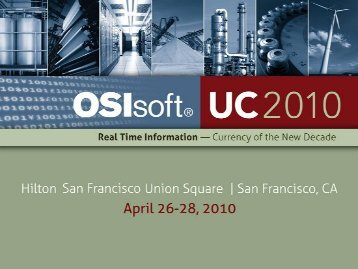 Integrated Downstream Dashboard - OSIsoft