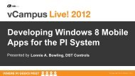 Developing Windows 8 Mobile Apps for the PI System - OSIsoft