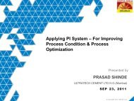 Applying PI System – For Improving Process Condition ... - OSIsoft