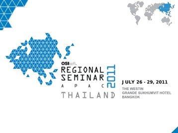 JULY 26 - 29, 2011 - OSIsoft