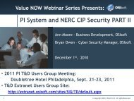 PI System and NERC CIP Security PART II - OSIsoft