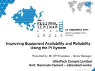 Improving Equipment Availability and Reliability Using the ... - OSIsoft