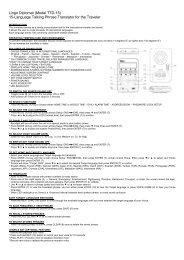 Lingo Diplomat (Model TTD-15) 15-Language ... - Richard Solo