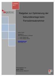 2. DIE OPTIMIERUNG BEIM ABNEHMER - aqotec.com