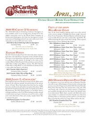 VintAge Select newS April, 2013 - McCarthy & Schiering