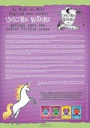 Unicorn Riders Press Release - Aleesah Darlison