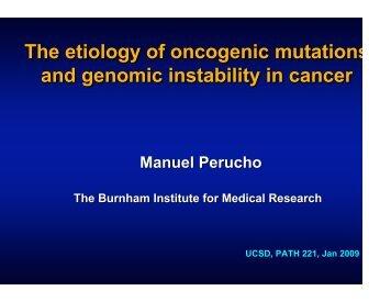 mutations - UCSD/Burnham Molecular Pathology