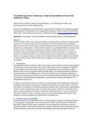 impact and potentials of civic food networks in Spain - IFSA ...