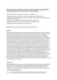 Impact on erosive runoff and costs for local communities of usage ...