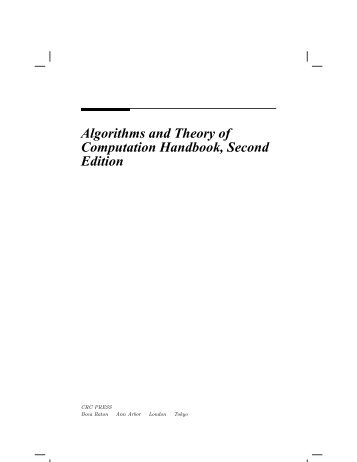 Algorithms and Theory of Computation Handbook, Second Edition