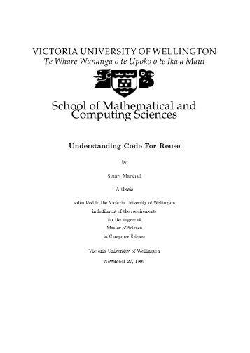 Understanding Code For Reuse - School of Engineering and ...