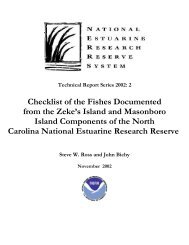 Checklist of the Fishes Documented from the Zeke's Island and ...