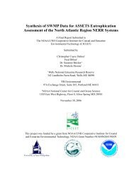 Synthesis of SWMP Data for ASSETS Eutrophication Assessment of ...