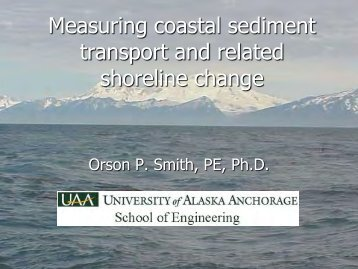 Measuring coastal sediment transport and related shoreline change