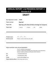 ANNUAL REPORT 1 & PROGRESS REPORT 2 Version 0.3 DRAFT