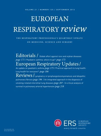 Cover (PDF) - European Respiratory Review