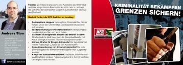 GRENZEN SICHERN! - NPD-Fraktion im Sächsischen Landtag