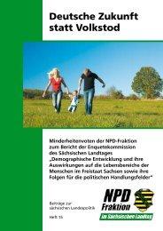 Deutsche Zukunft statt Volkstod - NPD-Fraktion im Sächsischen ...