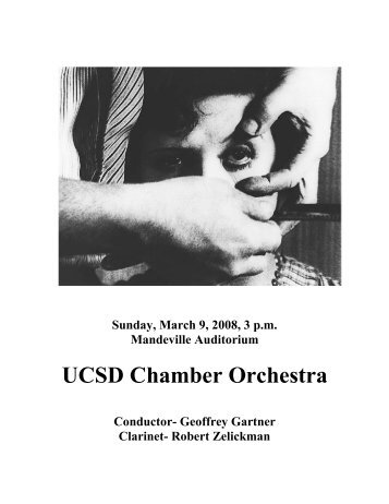 UCSD Chamber Orchestra - UCSD Department of Music Intranet