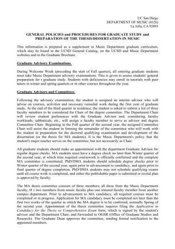 General Policy Procedures - Intranet - UC San Diego