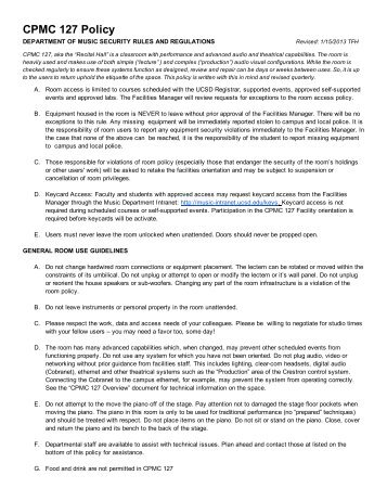 CPMC 127 Policy 2012 - UCSD Department of Music Intranet