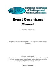 Event Organisers Manual - EFRA News