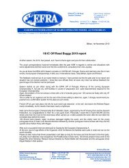 1/8 IC Off Road Buggy 2010 report - EFRA News - EFRA.ws