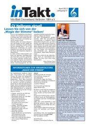 InTakt Ausgabe April 2013 - Chorverband Heilbronn