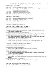 2011 Preliminary program schedule - Society for Music Theory