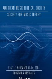 AMS/SMT Seattle 2004: Abstracts - American Musicological Society