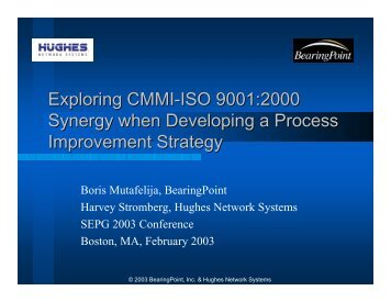 Exploring CMMI-ISO - Software Engineering Institute