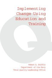 Implementing Change Using Education and Training