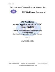 IAF Guidance on the Application of ISO/IEC Guide ... - Compad.com.au