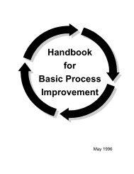 Handbook for Basic Process Improvement - Balanced Scorecard ...