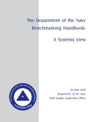 The Department of the Navy Benchmarking Handbook: A Systems ...