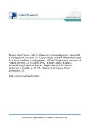 L'Operatore psicopedagogico - UnissResearch - Università degli ...