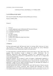Conferenza di Ateneo sulla Didattica, 12-13 febbraio 2004