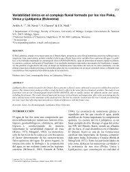 Variabilidad ionica en el complejo fluvial formado por los ... - Limnetica