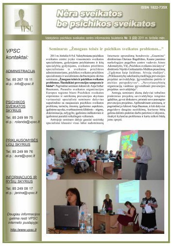 VPSC kontaktai: