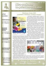 """VPSC kontaktai: Bendrumo akcija 2010 """"Kalėdinis sveikinimas ..."""