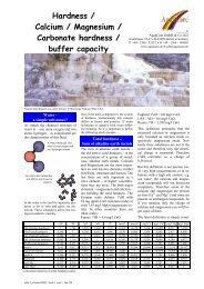 Hardness / Calcium / Magnesium / Carbonate hardness / buffer ...