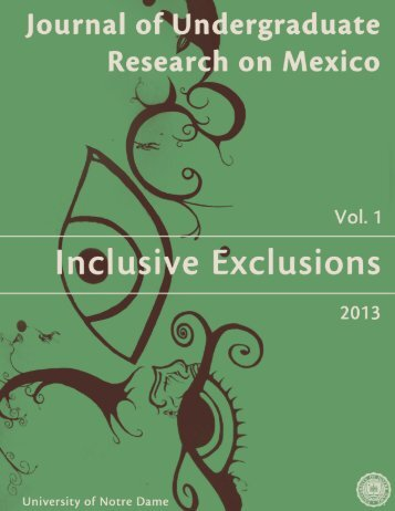The Journal of Undergraduate Research on Mexico - Vol. 1