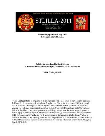 Política de planificación lingüística en Educación Intercultural ...