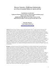 Recursos Naturales y Maldiciones Institucionales en la Nueva ...